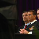 FBI Director James Comey attends the 2014 International Chiefs of Police Convention. Courtesy of VANISH Films.